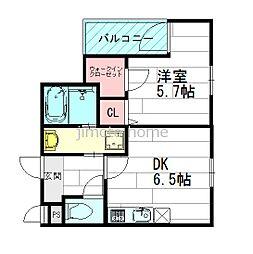 くすのきアパートメント2[1階]の間取り