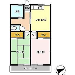 ハイツ呉竹[101号室]の間取り