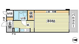 O−6マンション(学生)[304号室]の間取り
