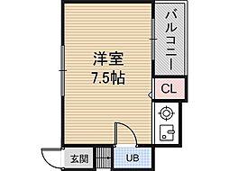 トマトハイツ小阪[203号室]の間取り