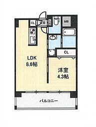 地下鉄今里駅 徒歩1分 新築マンション[4階]の間取り