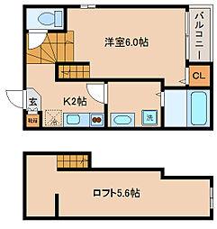 兵庫県神戸市長田区大塚町4丁目の賃貸アパートの間取り