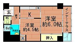堀江テラス(北堀江団地)[5階]の間取り