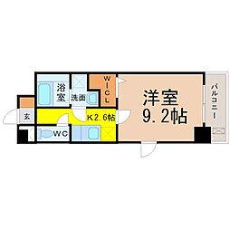 愛知県名古屋市中村区乾出町1の賃貸マンションの間取り