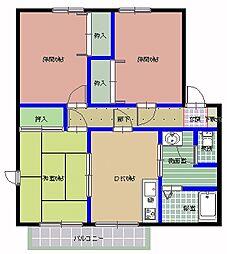 茨城県那珂郡東海村白方中央2丁目の賃貸アパートの間取り