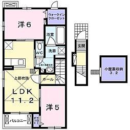 別所町高木アパート[02020号室]の間取り