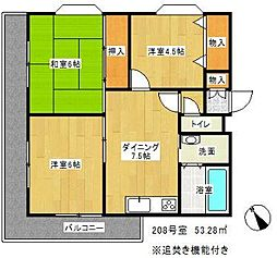 ライオンズマンション東戸塚[2階]の間取り