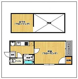 福岡県福岡市城南区鳥飼6丁目の賃貸アパートの間取り