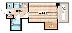 兵庫県神戸市兵庫区上沢通8丁目の賃貸マンションの間取り