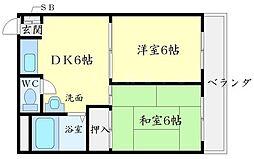 エリータ桃山台2[4階]の間取り