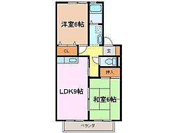 セジュールMONPAIII[2階]の間取り
