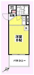 コスモ百合ヶ丘高石[201号室]の間取り