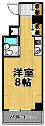 オーキッド此花[6階]の間取り