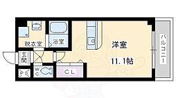 JR東海道・山陽本線 吹田駅 徒歩20分の賃貸マンション 1階ワンルームの間取り