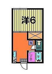 第一オリオンハイツ[2階]の間取り