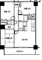 ウィンズステージ[7階]の間取り