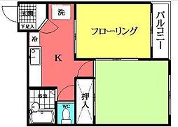 コートアネモス[2階]の間取り