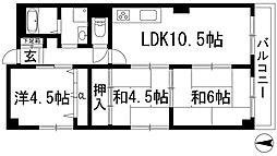 サンライズ明研V[4階]の間取り