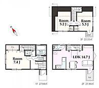 建物参考プラン:間取り/3LDK、延床面積/78.23m2、建物参考価格/1680万円(税込)
