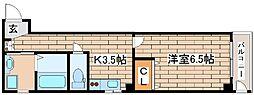 神戸市海岸線 ハーバーランド駅 徒歩9分の賃貸マンション 1階1Kの間取り