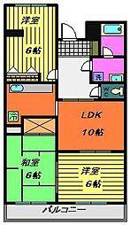第二大越ビル[701号室]の間取り