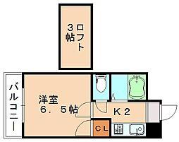 モーリックス横田[1階]の間取り