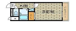 兵庫県神戸市長田区日吉町4丁目の賃貸マンションの間取り
