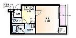 フジパレス堺鳳中5番館 2階1Kの間取り