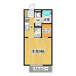レガーロA[1階]の間取り