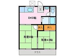 フォーブルサニーランド A棟[2階]の間取り