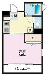 第8むさしマンション[103号室]の間取り