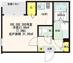 仮称)ハ−モニ−テラス大阪市西淀川区歌島一丁目8A[302号室]の間取り