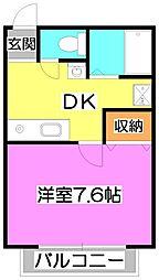 レジデンス富士見[2階]の間取り