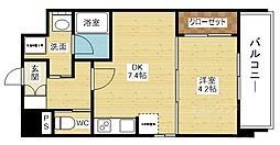 ライブガーデン新大阪[4階]の間取り
