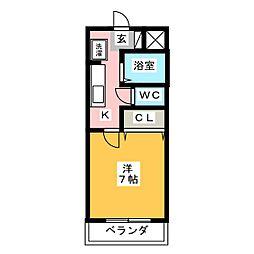 グランメール草薙      175034[3階]の間取り