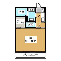 仮称)堀江1丁目共同住宅新築工事 2階1Kの間取り
