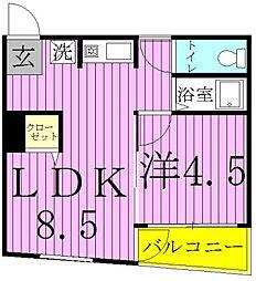 キャッスルマンション松戸[305号室]の間取り