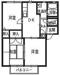 オンス小垣内A[2階]の間取り