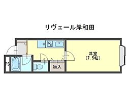 リヴェール岸和田[301号室]の間取り
