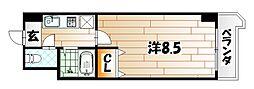 ロイヤルアネックス[10階]の間取り