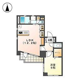 Lieben-courtII[5階]の間取り