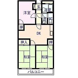 アーバンコート中須賀[122号室]の間取り