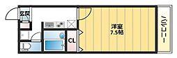 アンプルールフェール寿[2階]の間取り