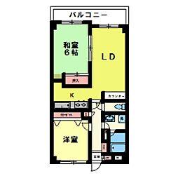 エスポワール松戸元山II[5階]の間取り