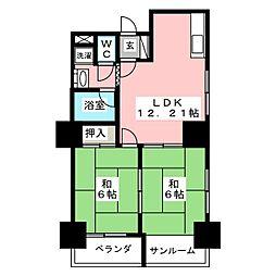 ネオハイツ錦[5階]の間取り