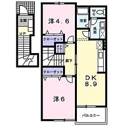 パークヒルズ[2階]の間取り