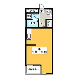 エムロードII[4階]の間取り