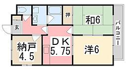 ケスハイツ一色[301号室]の間取り