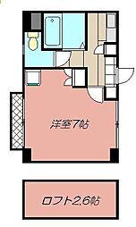 クレスト黒崎[502号室]の間取り