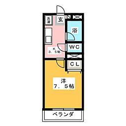 キャッスルパーク南仙台[2階]の間取り